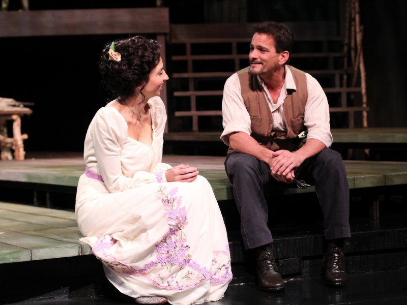 "Laura Rook and Jim DeVita star in American Players Theatre's production of ""The Seagull."""