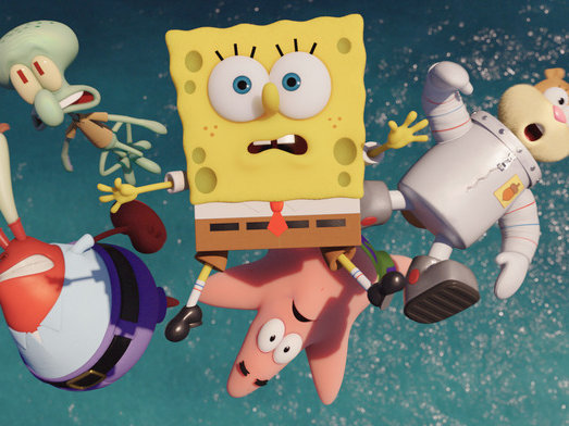 the spongebob movie under the sea but goofily higher than a kite