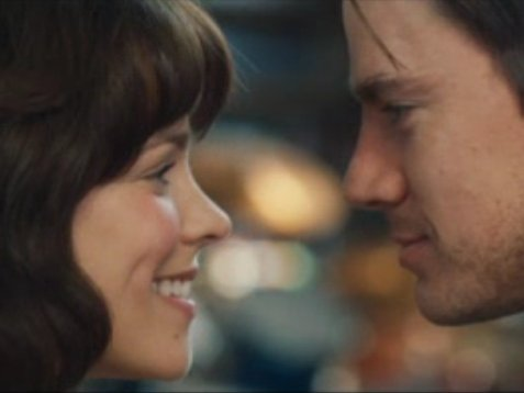 "Rachel McAdams and Channing Tatum in new romantic drama ""The Vow,"" in theaters today."
