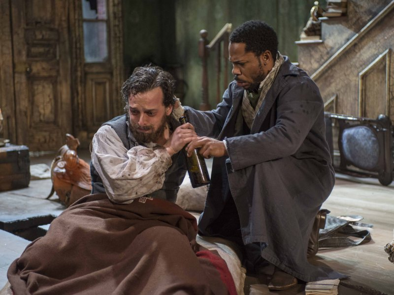 "Josh Landay and Ro Boddie star in ""The Whipping Man."""