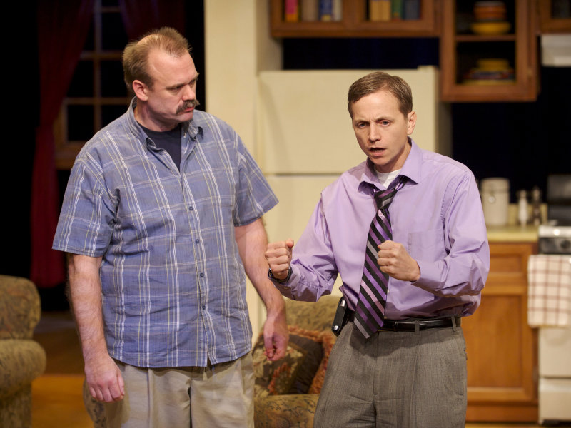 "Dan Katula and Ryan Schabach star in ""Things Being What They Are."""