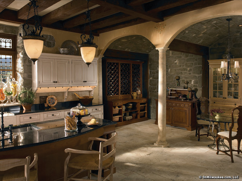 Beau This Grand Villa Kitchen By Wood Mode Reflects The Beauty And Gracious  Living Of The Tuscan Region.