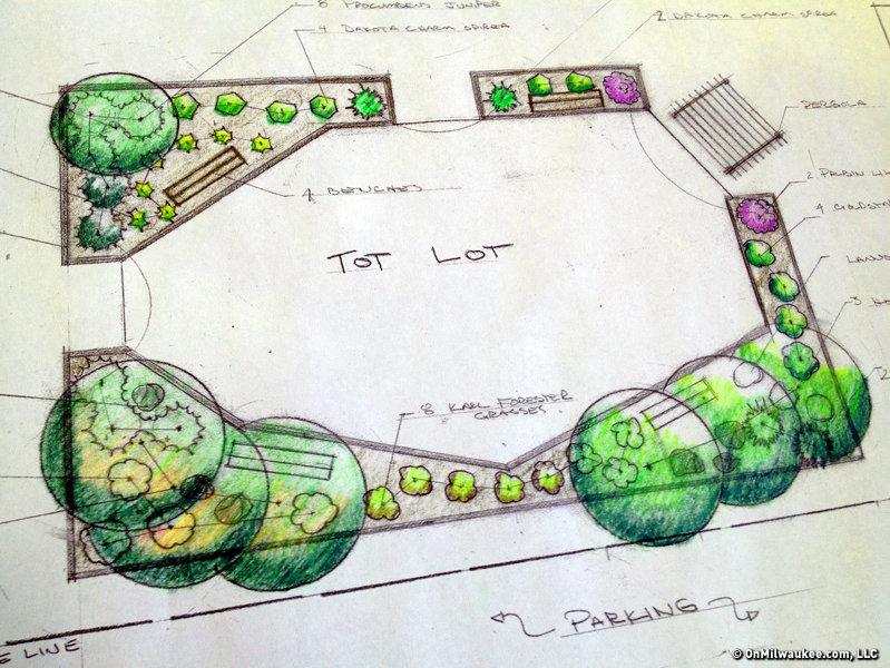 A new tot lot at Tipp-Dover will get some green space around it.