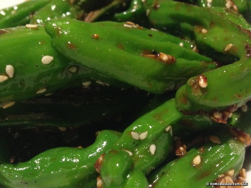 The shishitos, a pepper starter, are a must try.