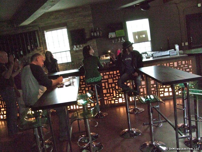 while the back uses reclaimed wood from the building's old loft. - Jonas' Tonic Tavern Raises Bar On KK Pub Scene - OnMilwaukee