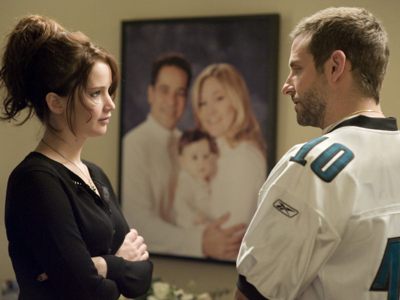 "Jennifer Lawrence and Bradley Cooper are mesmerizing in ""Silver Linings Playbook."""