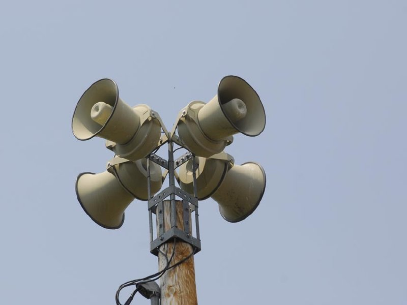 Some communities sounded their sirens Wednesday, despite the absence of any tornadoes.