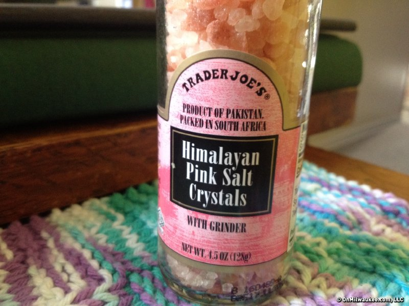 Trying something new: A friend just bought me TJ's Himalayan pink salt crystals. She said the price is amazingly low and these crystals have health benefits.