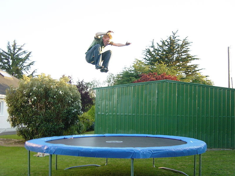 trampolines for kids safe or insane onmilwaukee. Black Bedroom Furniture Sets. Home Design Ideas