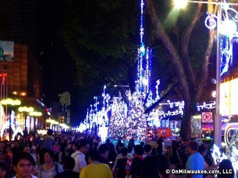 Despite their small Christian population, Singapore goes all out with their Christmas decorating on Orchard Road.