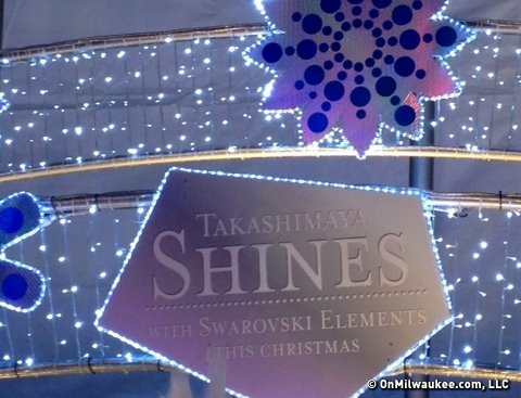 Department store Christmas, brought to you by Swarovski.