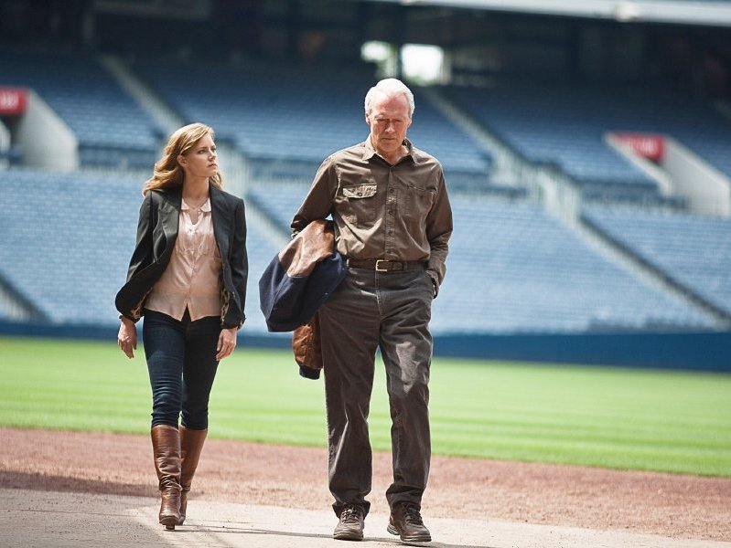 "Amy Adams and Clint Eastwood star in ""Trouble with the Curve,"" in theaters now."