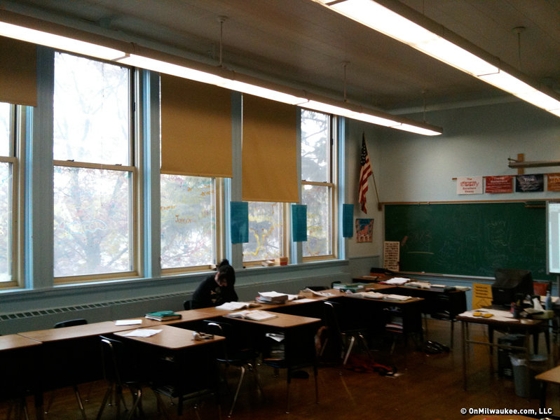 Even the north-facing first and second floor classrooms are bathed in light.