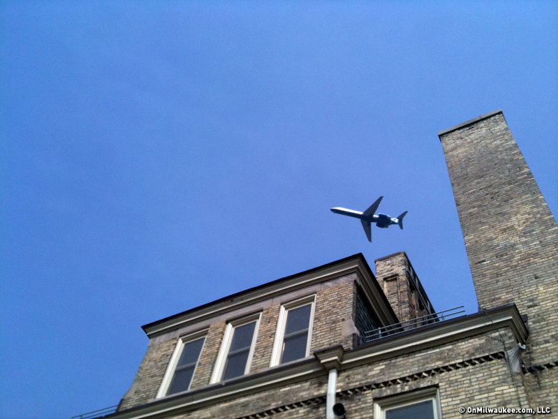 The school, like all schools in Bay View, sees a lot of traffic in the skies above.