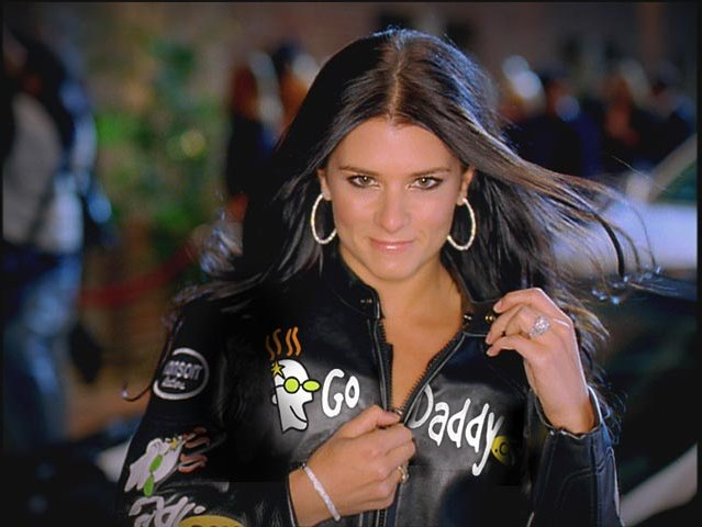 Danica Patrick starred in the GoDaddy.com commercial.