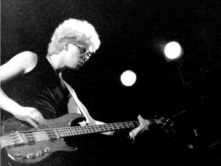 Guitarist Adam Clayton at one of the band's early U.S. shows at The Palms in 1981.