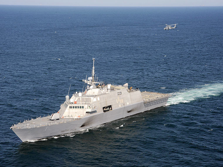 USS Freedom, sister ship to the USS Milwaukee. The vessels are Littoral Combat Ships used for for warfighting in highly trafficked near-shore regions.
