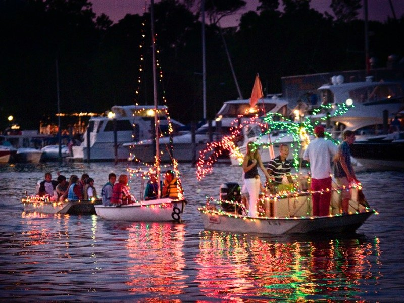Watch the Venetian Boat Parade light up the lake this weekend
