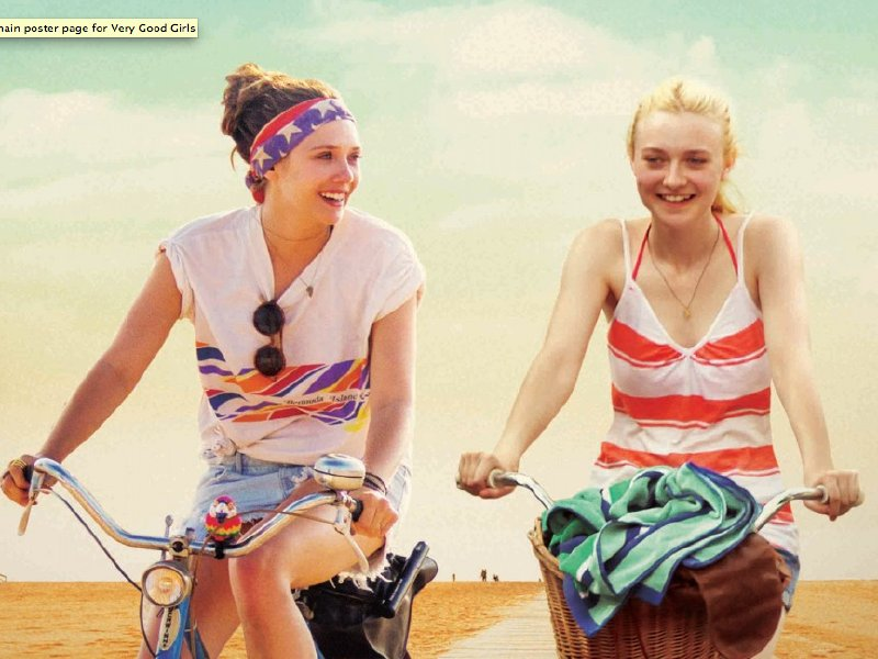 "Elizabeth Olsen and Dakota Fanning are best friends in ""Very Good Girls."""