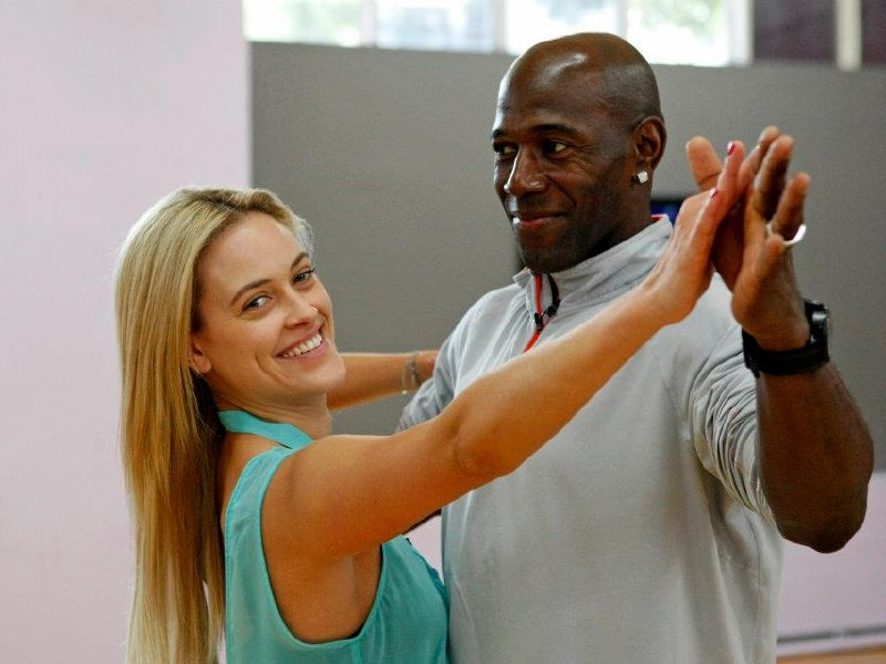 Driver and Peta Murgatroyd at rehearsal.