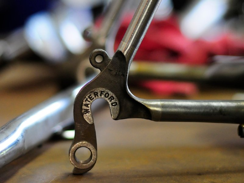 Waterford revolutionized the rear triangle with vertical dropouts.