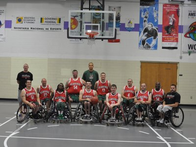 Wheelchair basketball Image