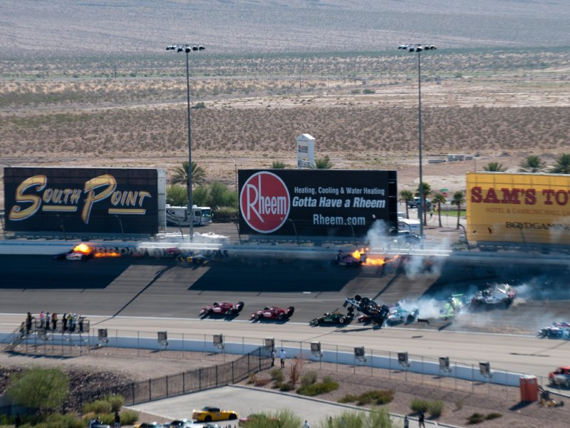 How long is the indianapolis 500 track for How long is las vegas motor speedway
