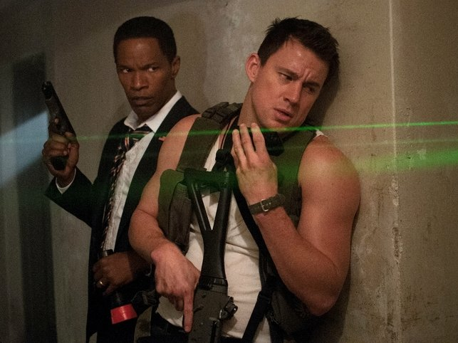 "Jamie Foxx and Channing Tatum star in ""White House Down,"" now playing."