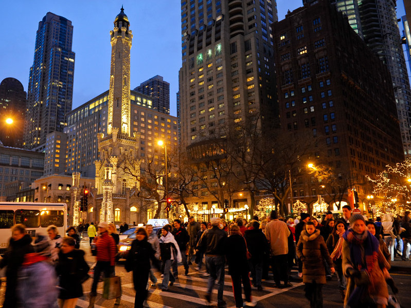 Holidays Transform Chicago Into A Windy Wintry Wonderland
