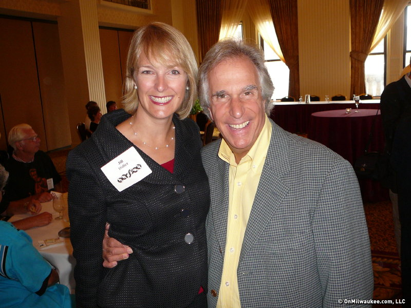 Winkler poses with Wauwatosa Mayor Jill Didier.
