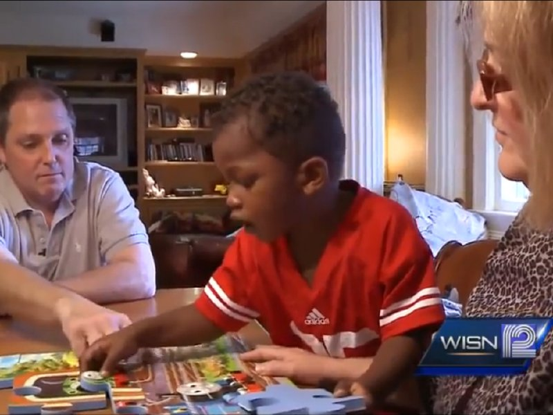 The Potter family is the subject of a strong WISN story about foster families and race.