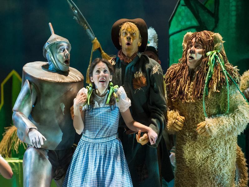 The Tin Man, Dorothy, The Scarecrow and Cowardly Lion hit the stage at the Skylight Music Theatre.