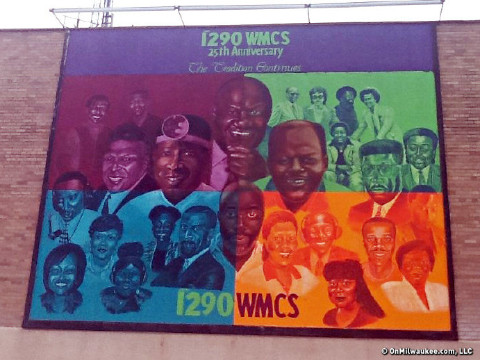 The mural at WMCS-AM (1290) building on Capitol Drive.