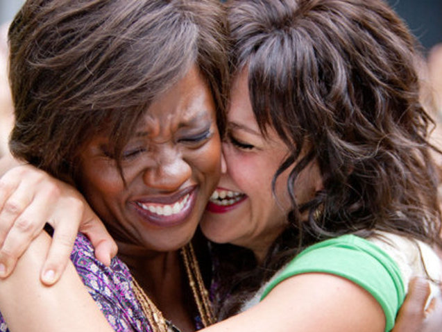 "Viola Davis and Maggie Gyllenhaal in ""Won't Back Down,"" in theaters now."