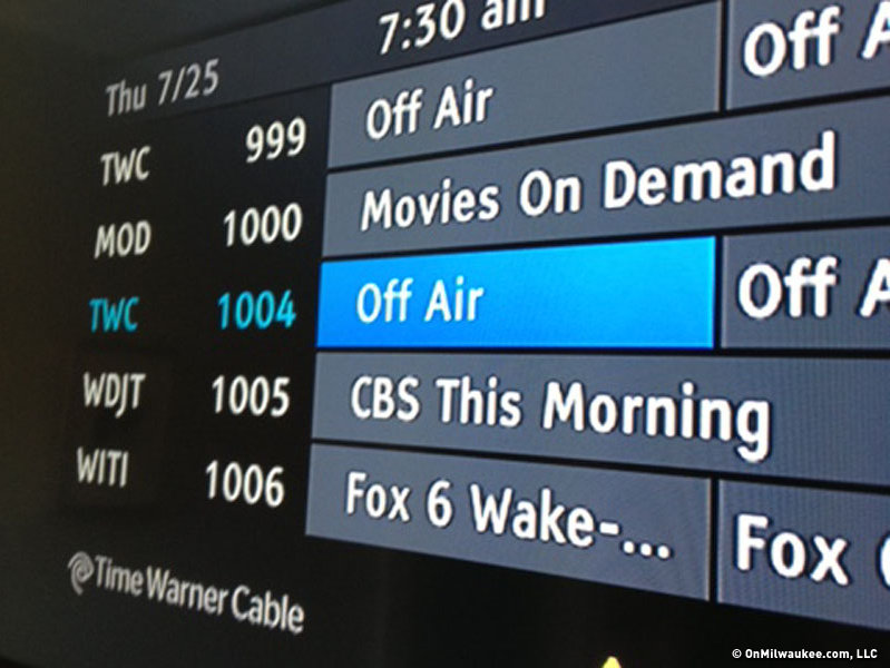 What Channel Is The Wisconsin Badger Game On Time Warner Cable: WTMJ-TV signal off air for Time Warner Cable customers - OnMilwaukeerh:onmilwaukee.com,Design