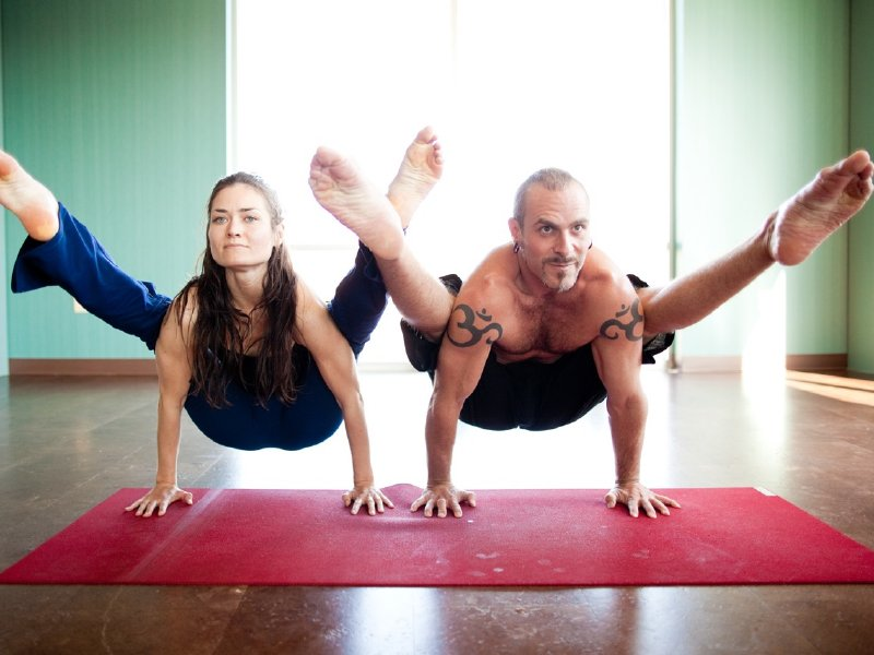 Larrissa Beckenbaugh and PJ Heffernan from PJ's Yoga Shala.